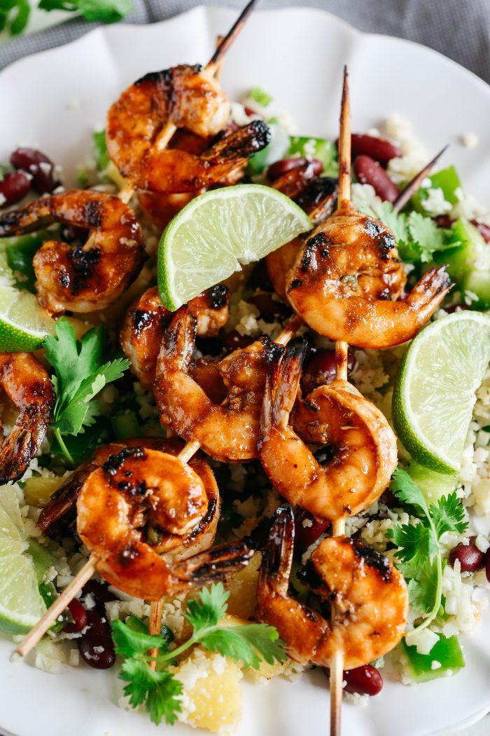 Meal Prep 101: Caribbean Jerk Shrimp with Brown Rice
