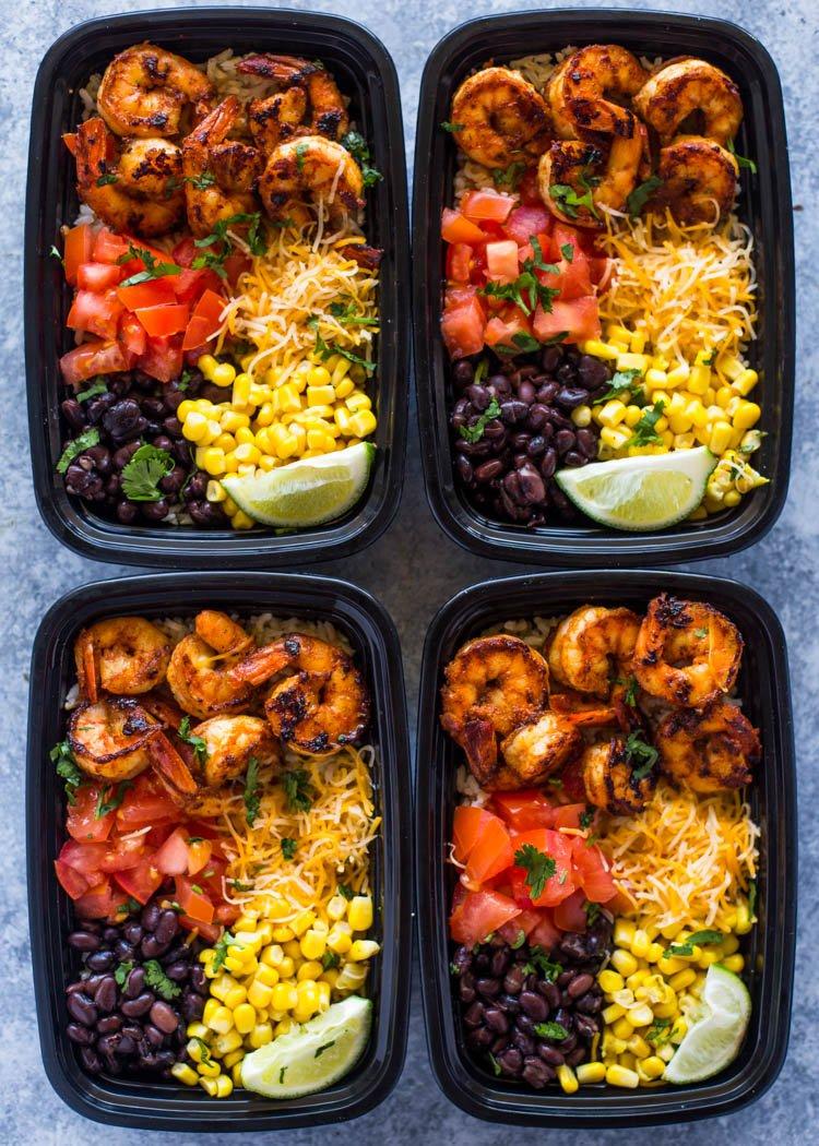 Meal Prep 101: Spicy Shrimp Taco Bowls
